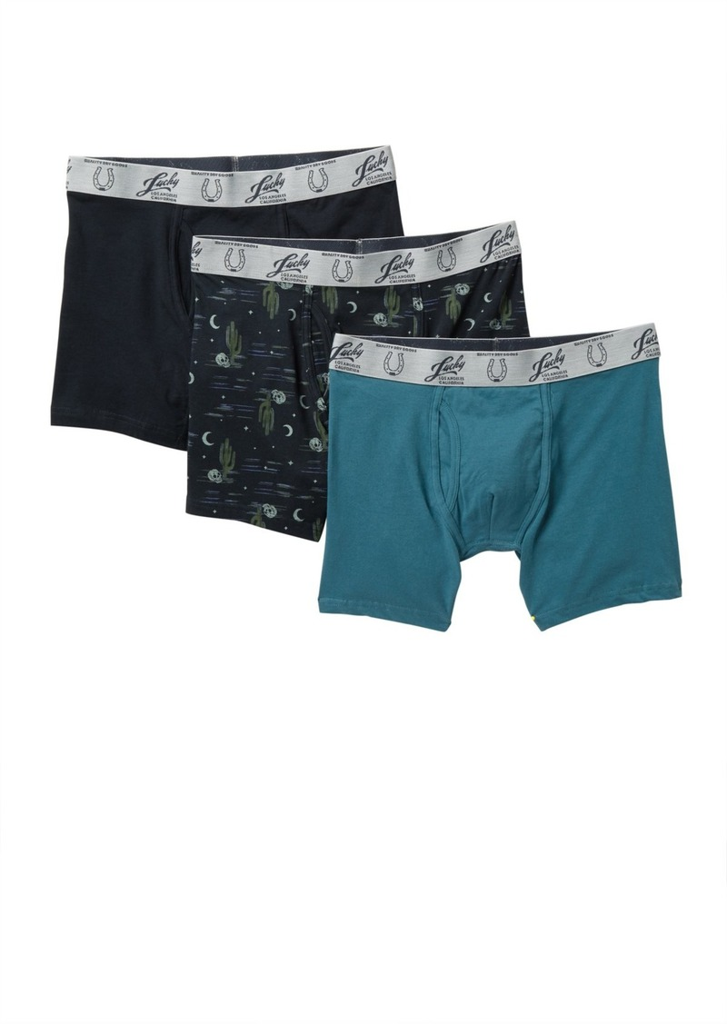 Lucky Brand Woven Boxer Briefs - Pack of 3