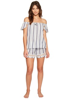 Lucky Brand Woven Shorty Set
