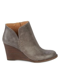 Lucky Brand Yimmie Leather Wedge Booties