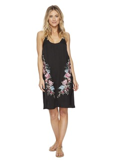Lucky Brand Zen Garden Embroidered Slip Dress Cover-Up