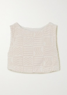 Lucy Cabana Cropped Cotton-terry Tank