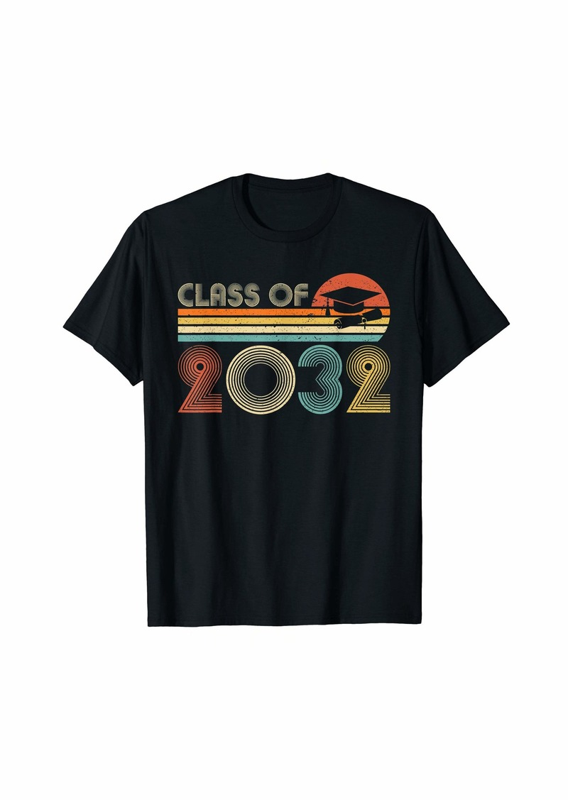 Lucy Class Of 2032 Graduate Preschool Vintage T-Shirt