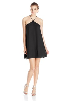 Lucy Love Women's Almost Famous Sleeveless Halter Party Dress