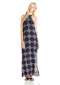 Lucy Love Junior's Loveshack Halter Neck Printed Maxi Dress