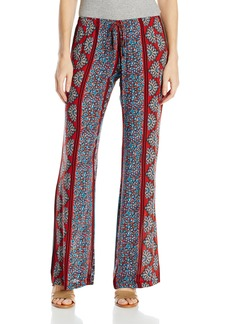 Lucy Love Junior's Santa Cruz Printed Palazzo Pant