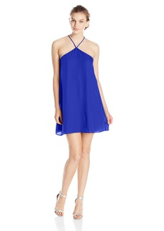 Lucy Love Women's Almost Famous Sleeveless Halter Party Dress  Medium