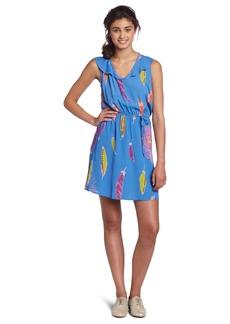 Lucy Love Women's Feather Breanne Dress Blue