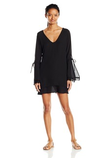 Lucy Love Women's Felicity Long Sleeve Lace Trim Shift Dress