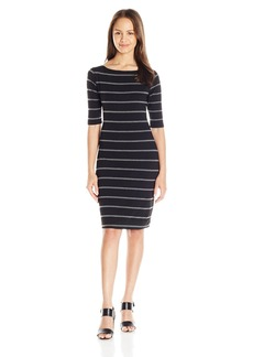Lucy Love Women's Film Festival Stripe Bonded Knit Dress