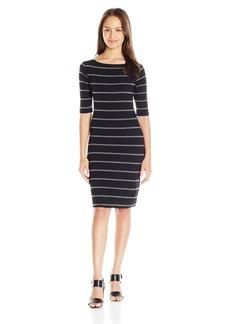 Lucy Love Women's Film Festival Stripe Bonded Knit Dress