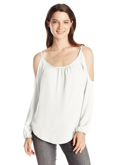 Lucy Love Women's Ginnifer Long-Sleeve Cold-Shoulder Top