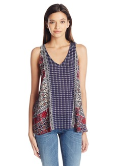 Lucy Love Women's Half Moon Printed Tank Top