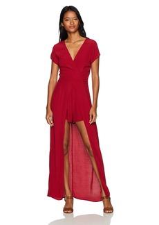 Lucy Love Women's Hello/Goodbye Walk-Through Dress Solid