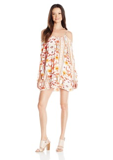 Lucy Love Women's Hollie Printed Off Shoulder Dress