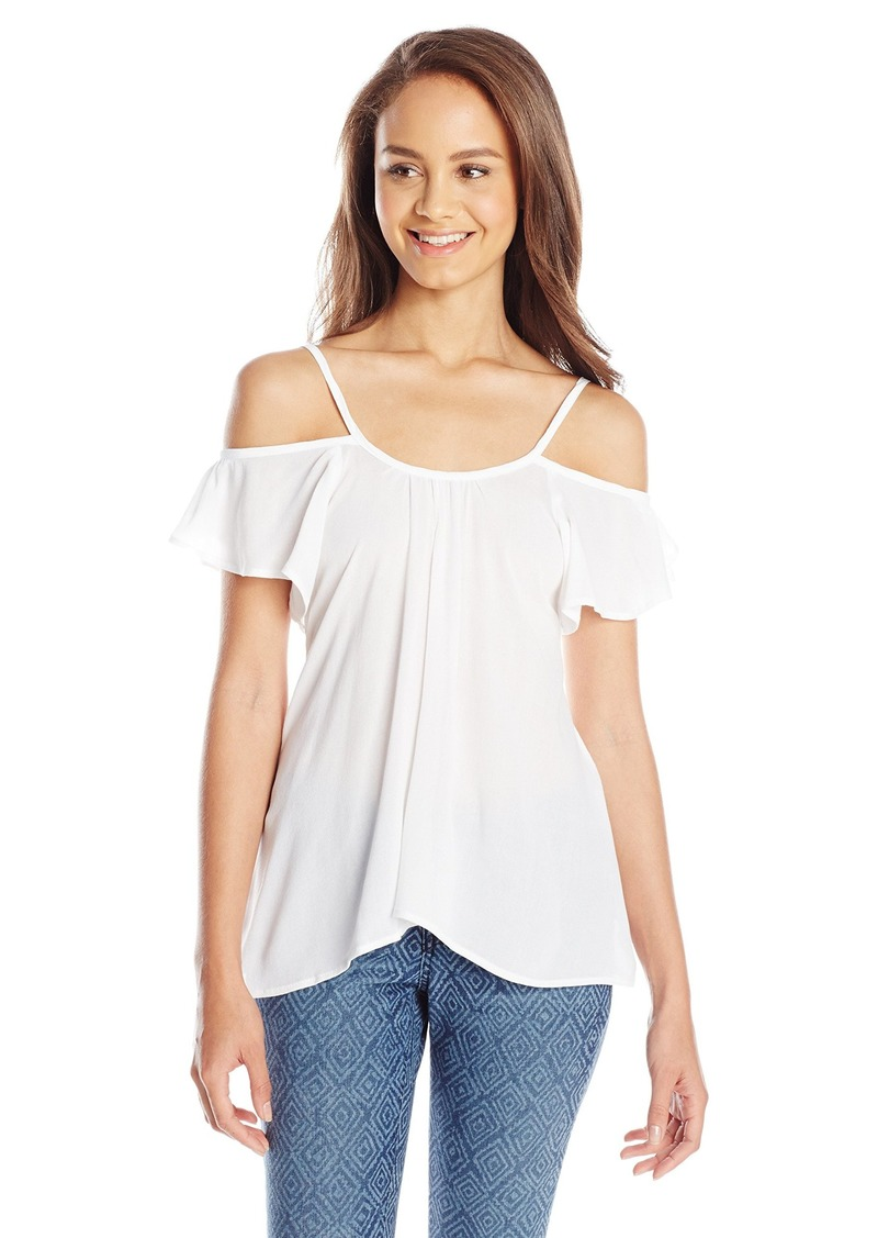 Lucy Love Women's Hollie Short-Sleeve Cold-Shoulder Top