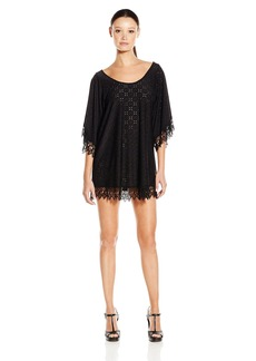 Lucy Love Women's in Heaven Eyelet Tunic Dress  X-Small