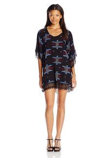 Lucy Love Women's in Heaven Print Lace Tunic Dress