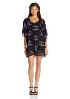 Lucy Love Women's In Heaven Print Lace Tunic Dress