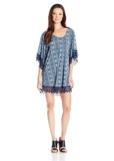 Lucy Love Women's in Heaven Printed Tunic Lace Dress