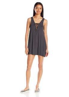 Lucy Love Women's Lace Me up Shift Swing Dress