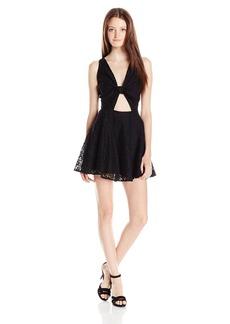 Lucy Love Women's Lace Supernova Tie Front Dress