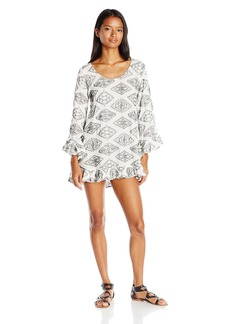 Lucy Love Women's Mayfair Printed Tunic Bell Sleeve Dress