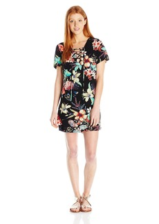 Lucy Love Women's Most Wanted Floral Print Lace-up Dress