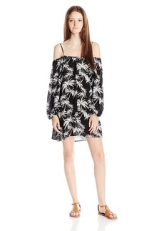 Lucy Love Women's Off Shoulder Lotus Printed Dress