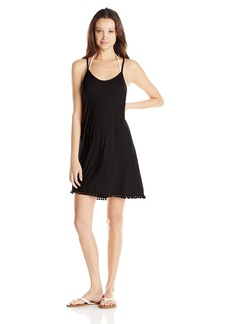 Lucy Love Women's Pool Party Tassel Trim Tank Dress