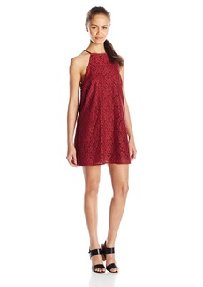 Lucy Love Women's Sophia Lace Halter Dress