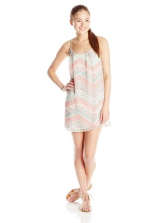 Lucy Love Women's Take Me to Dinner Printed Tank Dress