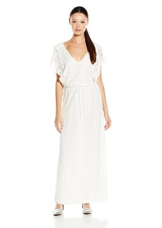 Lucy Love Women's Villa Lace Drawstring Maxi Dress