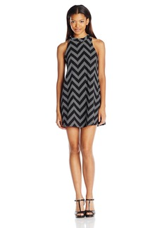 Lucy Love Women's Zaria Zig Zag Striped Swing Dress