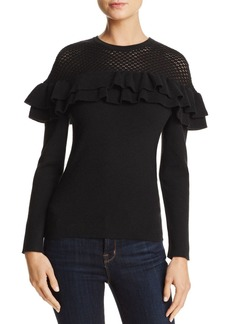Lucy Paris Alexa Ruffle Sweater - 100% Exclusive