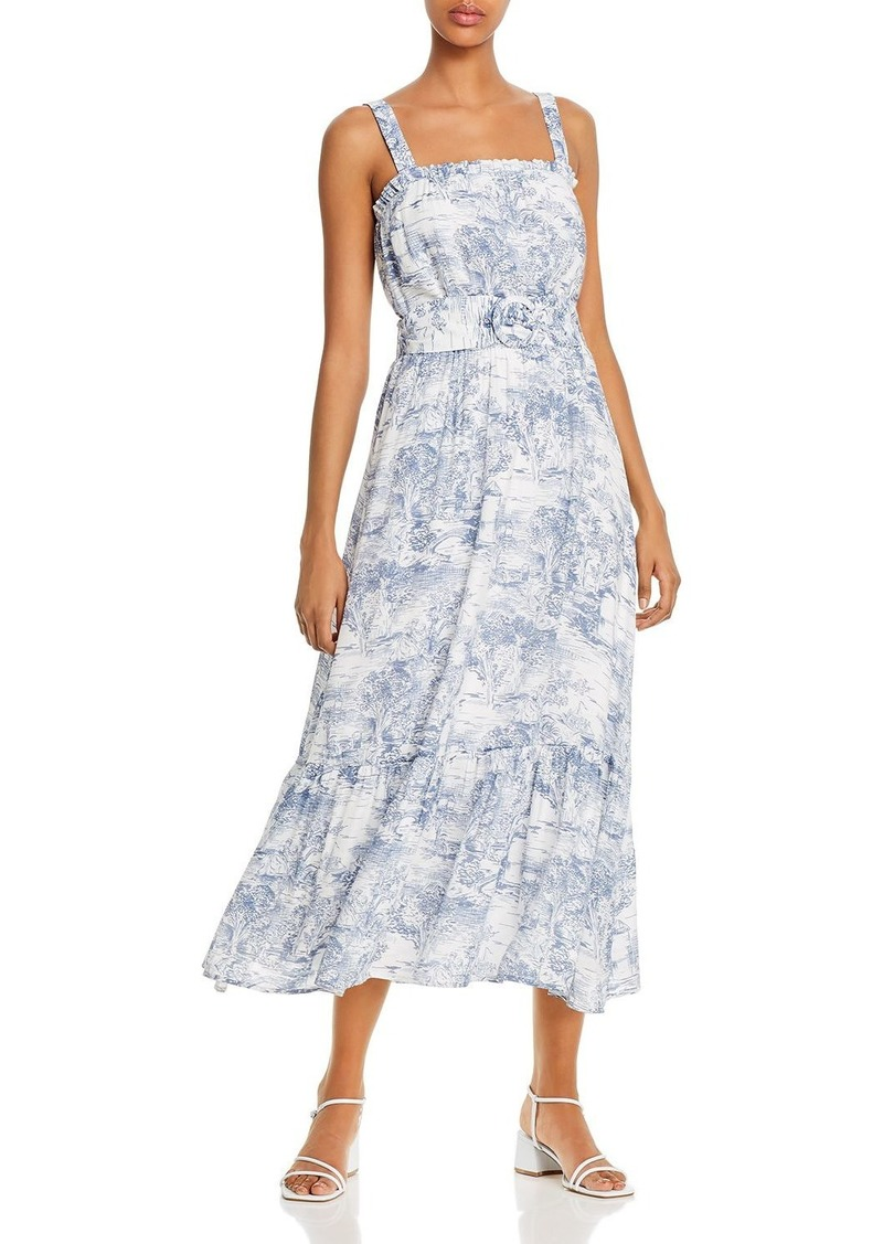 Lucy Paris Belted Toile-Print Midi Dress - 100% Exclusive