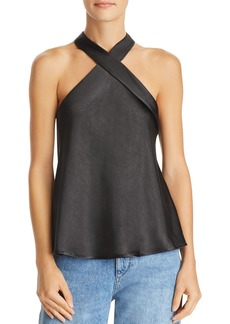 Lucy Paris Chloe Sleeveless Cross-Neck Top