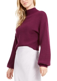 Lucy Paris Cropped Mock Neck Sweater