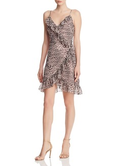 Lucy Paris Cynthia Leopard-Print Ruffled Wrap Dress - 100% Exclusive