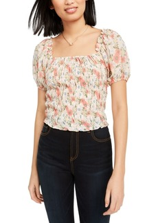 Lucy Paris Daisy Ruched Square-Neck Top