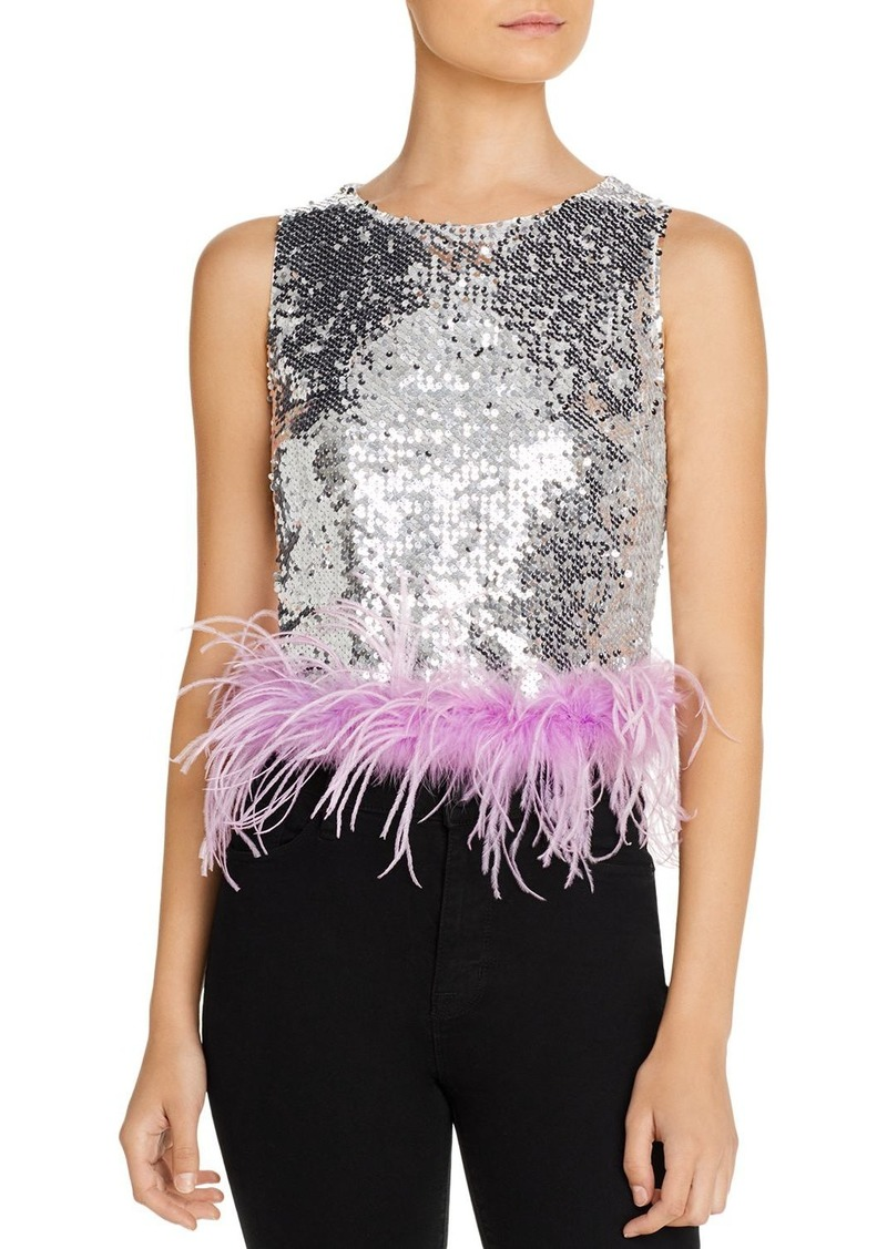 Lucy Paris Embellished-Hem Sequined Top - 100% Exclusive
