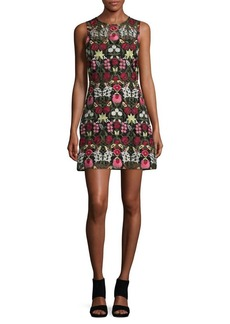 Lucy Paris Embroidered Floral A-Line Dress