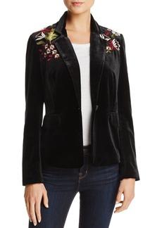 Lucy Paris Embroidered Velvet Blazer - 100% Exclusive