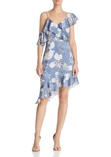 Lucy Paris Emely Asymmetric Floral Print Dress - 100% Exclusive