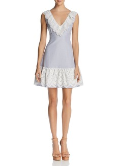 Lucy Paris Eyelet-Trim Striped Dress - 100% Exclusive