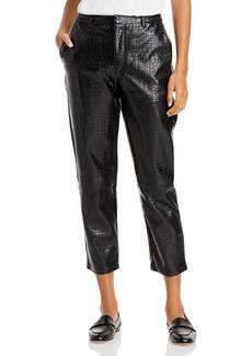 Lucy Paris Faux Croc Leather Cropped Pants