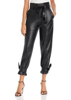 Lucy Paris Faux Leather Ankle Tie Pants - 100% Exclusive