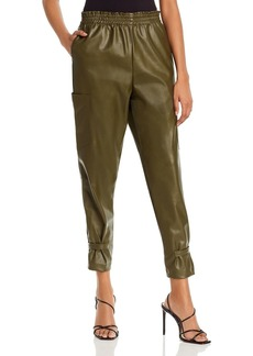 Lucy Paris Faux Leather Cargo Pants - 100% Exclusive