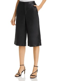 Lucy Paris Faux-Leather Culotte Pants - 100% Exclusive