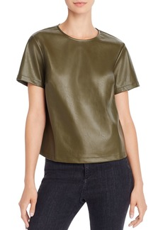 Lucy Paris Faux Leather Top - 100% Exclusive