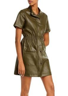Lucy Paris Faux Leather Utility Dress - 100% Exclusive